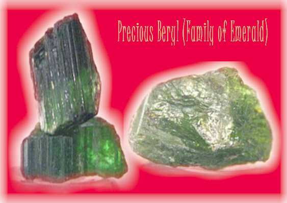 Beryl. Basic form of emerald. From Zambia. (C) Copyricht Emerald Centre