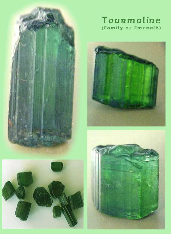 Tourmaline, family of Emerald, from Zambia. (C) Copyright Emerald Centre.